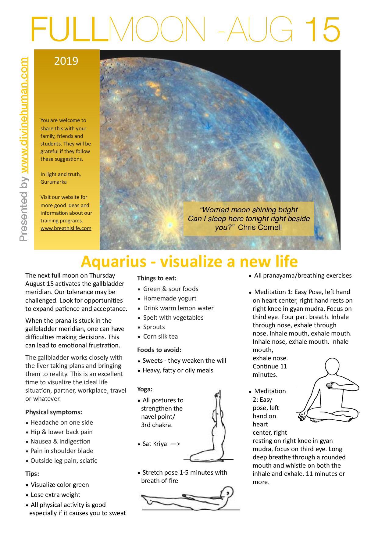 Full Moon Aug 2019 | Aquarius